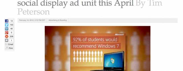 Hoping That Social Media Will Fix Crappy Banner Ads